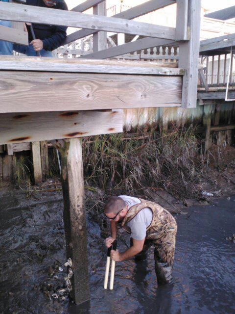 Replace beam for dock Cherry Grove