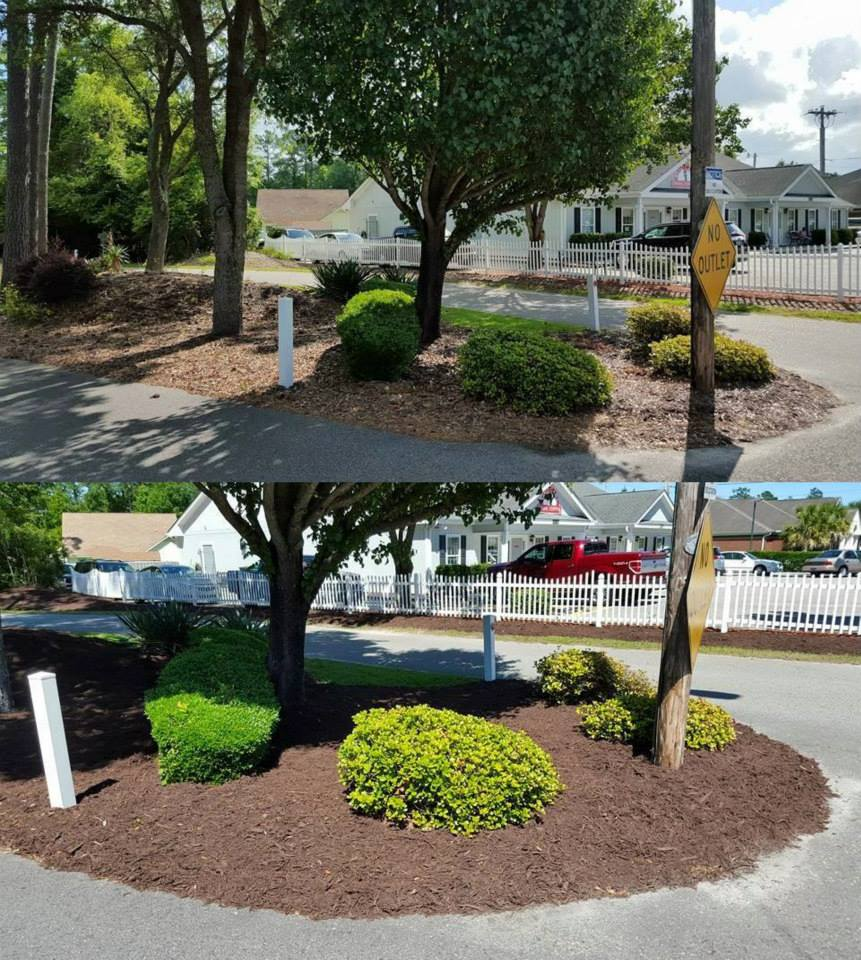 Mulch installation for HOA in Little River